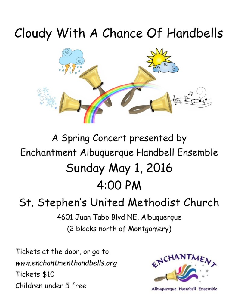 Concert: Sunday, 5/1/2016, 4:00 pm, St. Stephen's United Methodist Church